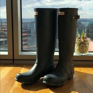 Tall, Navy, Matte, Original, Hunter Boots